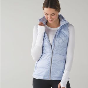 Lululemon Down for a Run vest, size 4